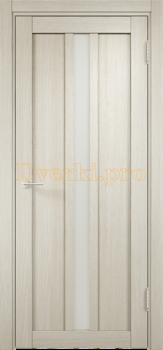 2318, Дверь ЭКО 01 беленый дуб мелинга, остекленная, 21558, 3 955.00 р., 2318-01, , Двери Eldorf экошпон