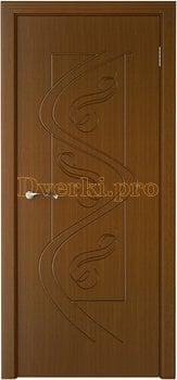 1022, Дверь Вега орех, глухая, 14774, 4 535.00 р., 1022-01, , Двери шпон Стандарт