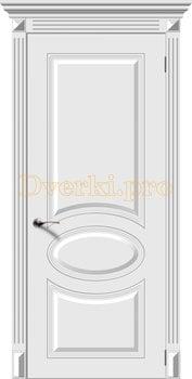 2673, Дверь Джаз белая эмаль, глухая, 22116, 6 025.00 р., 2673-01, , Эмаль, серия Классика