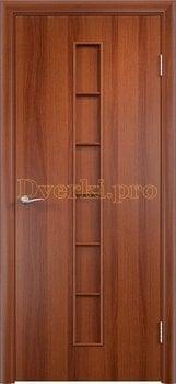 876, Дверь Тип С-12 итальянский орех, глухая, 13287, 1 910.00 р., 876-01, , Двери в финиш-пленке