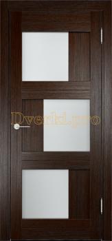 2143, Дверь Баден 10 дуб темный, остекленная, 21223, 4 125.00 р., 2143-01, , Двери Eldorf экошпон с 3D покрытием