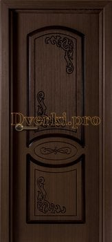 1075, Дверь Муза венге, глухая, 15570, 4 535.00 р., 1075-01, , Двери шпон Стандарт