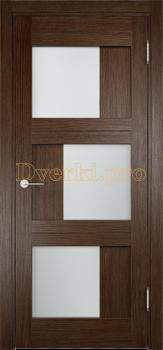 2141, Дверь Баден 10 дуб табак, остекленная, 21221, 4 125.00 р., 2141-01, , Двери Eldorf экошпон с 3D покрытием