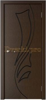 1045, Дверь Лидия венге, глухая, 15450, 4 475.00 р., 1045-01, , Двери шпон Стандарт