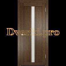 Дверь ЭКО 01 венге мелинга, остекленная