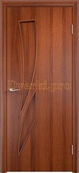 641, Дверь Тип С-02 итальянский орех, глухое, 12074, 1 970.00 р., 641-01, , Двери в финиш-пленке