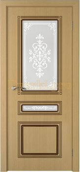 3246, Дверь Стиль дуб, остекленная, 20179, 6 180.00 р., 3246-01, , Двери шпон Стандарт