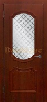 3480, Дверь Асти (объемный багет) коньяк, остекленная, 26986, 5 080.00 р., 3480-01, , Двери облицованные ПВХ
