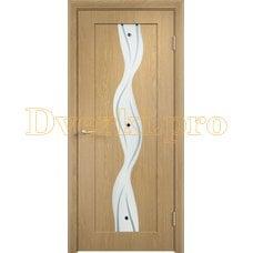 Дверь Вираж дуб, остекленная