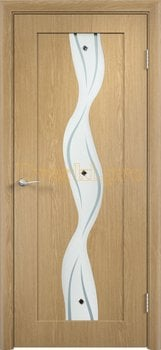 350, Дверь Вираж дуб, остекленная, 11397, 5 355.00 р., 350-01, , Двери облицованные ПВХ