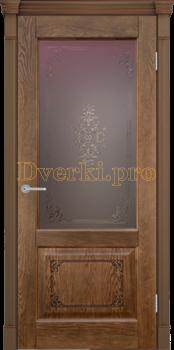 3193, Дверь Шервуд 3D миндаль, остекленная, 22414, 10 265.00 р., 3193-01, , Двери шпон Комфорт