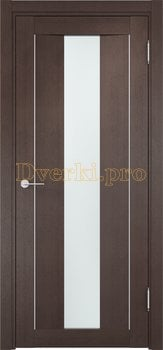 1335, Дверь Сицилия 02 венге, остекленная, белый триплекс, 18550, 9 470.00 р., 1335-01, , Двери экошпон Премиум
