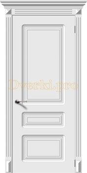 2725, Дверь Трио белая эмаль, глухая, 22292, 5 995.00 р., 2725-01, , Эмаль, серия Классика