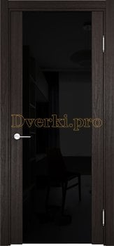 3735, Дверь Турин-Сан Ремо дуб шоколад (CPL), остекленная, 29529, 9 780.00 р., 3735-01, , Двери экошпон Премиум