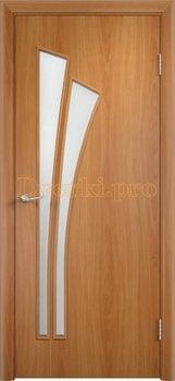 819, Дверь Тип С-07 миланский орех, остекленная, 12979, 2 300.00 р., 819-01, , Двери в финиш-пленке