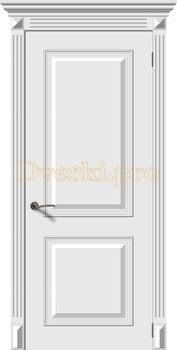 2689, Дверь Багет 2 белая эмаль, остекленная, 22156, 13 375.00 р., 2689-01, , Эмаль, серия Багет