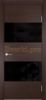 3563, Дверь Турин 12 дуб шоколад (CPL), остекленная, 27331, 8 615.00 р., 3563-01, , Двери экошпон Премиум