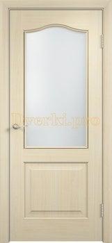 2235, Дверь Классика беленый дуб, остекленная, 21364, 4 140.00 р., 2235-01, , Двери облицованные ПВХ