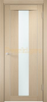 1329, Дверь Сицилия 02 беленый дуб, остекленная, белый триплекс, 18544, 9 470.00 р., 1329-01, , Двери экошпон Премиум