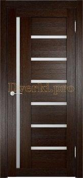 1932, Дверь Берлин 02 дуб темный, остекленная, 20857, 3 730.00 р., 1932-01, , Двери Eldorf экошпон с 3D покрытием