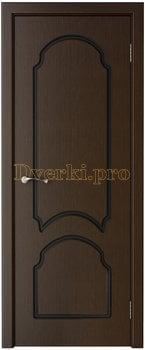 1119, Дверь Соната венге, глухая, 15751, 6 135.00 р., 1119-01, , Двери шпон Стандарт