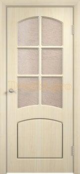 432, Дверь Кэрол беленый дуб, остекленная, 11539, 4 595.00 р., 432-01, , Двери облицованные ПВХ