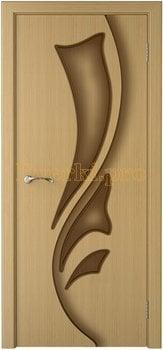 1050, Дверь Лидия дуб, глухая, 15480, 4 535.00 р., 1050-01, , Двери шпон Стандарт