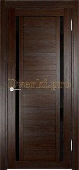 2586, Дверь Берлин 06 (Лакобель) дуб темный, остекленная, 22029, 4 785.00 р., 2586-01, , Двери Eldorf экошпон с 3D покрытием