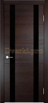 3551, Дверь Турин 06 дуб шоколад (CPL), остекленная, 27319, 7 470.00 р., 3551-01, , Двери экошпон Премиум