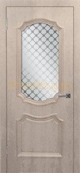 3483, Дверь Асти (объемный багет) крем, остекленная, 26990, 5 080.00 р., 3483-01, , Двери облицованные ПВХ