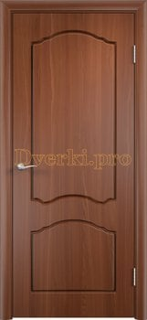 487, Дверь Лидия итальянский орех, глухая, 11594, 3 600.00 р., 487-01, , Двери облицованные ПВХ