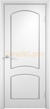 431, Дверь Кэрол белая, глухая, 11538, 4 010.00 р., 431-01, , Двери облицованные ПВХ