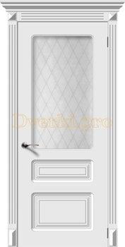 2723, Дверь Трио белая эмаль, остекленная, 22290, 7 500.00 р., 2723-01, , Эмаль, серия Классика