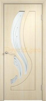 257, Дверь Лиана беленый дуб, остекленная, 11174, 4 490.00 р., 257-01, , Двери облицованные ПВХ