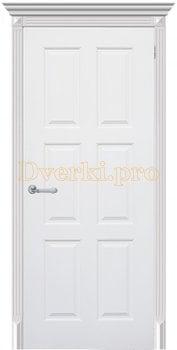 3304, Дверь Челси 08 белая эмаль, глухая, 25900, 6 065.00 р., 3304-01, , Эмаль, серия Классика