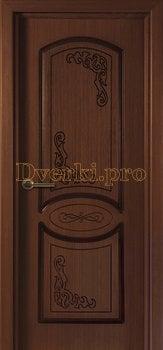 1077, Дверь Муза макоре, глухая, 15586, 4 560.00 р., 1077-01, , Двери шпон Стандарт