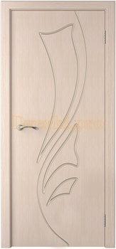 1048, Дверь Лидия беленый дуб, глухая, 15476, 4 915.00 р., 1048-01, , Двери шпон Стандарт