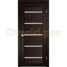 Дверь X-3 венге, остекленная