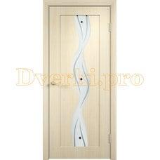 Дверь Вираж беленый дуб, остекленная
