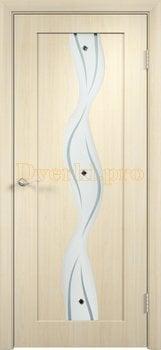 358, Дверь Вираж беленый дуб, остекленная, 11405, 5 355.00 р., 358-01, , Двери облицованные ПВХ