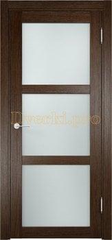 1986, Дверь Баден 02 дуб табак, остекленная, 20911, 3 415.00 р., 1986-01, , Двери Eldorf экошпон с 3D покрытием