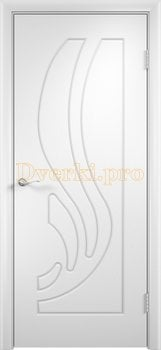 255, Дверь Лиана белая, глухая, 11172, 3 905.00 р., 255-01, , Двери облицованные ПВХ
