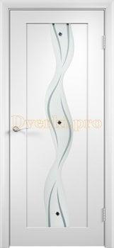 361, Дверь Вираж белая, остекленная, 11408, 5 355.00 р., 361-01, , Двери облицованные ПВХ