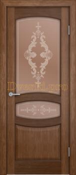 3165, Дверь Сиена орех, остекленная, 20476, 8 440.00 р., 3165-01, , Двери шпон Комфорт
