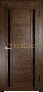 2594, Дверь Берлин 06 (Лакобель) дуб табак, остекленная, 22037, 4 785.00 р., 2594-01, , Двери Eldorf экошпон с 3D покрытием
