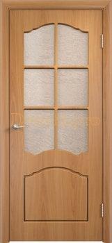 492, Дверь Лидия миланский орех, остекленная, 11599, 4 170.00 р., 492-01, , Двери облицованные ПВХ
