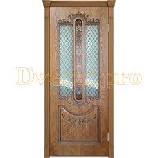 Дверь Муар орех-2, остекленная