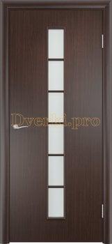 887, Дверь Тип С-12 венге, остекленная, 13310, 2 320.00 р., 887-01, , Двери в финиш-пленке