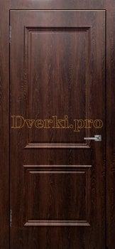 3474, Дверь Шервуд (объемный багет)  шоколад, глухая, 26963, 3 750.00 р., 3474-01, , Двери облицованные ПВХ