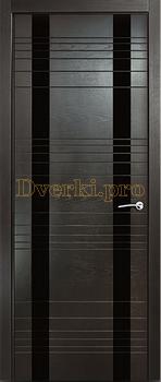 Дверь V-II стекло черное